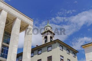 Bergamo, Italy Prefecture building detail.