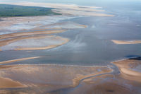 Eiderstedt, Aerial Photo of the Schleswig-Holstein Wadden Sea National Park in Germany