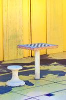 Chess Table on the Beach