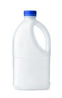 White  blank plastic  bottle with handle