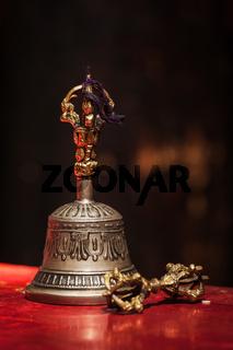 Tibetan Buddhist ritual objects - vajra and bell