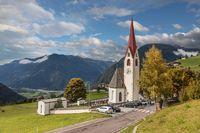 Mountain church in South Tyrol