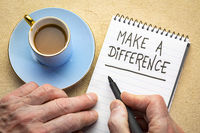 Make a difference advice or reminder