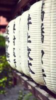 Japanese Lanterns at shrine in Gion, Kyoto, Japan