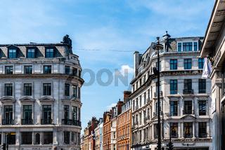 Scenic view of luxury old buildings in  Regent Street