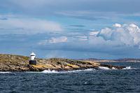 Leuchtturm auf der Insel Orust in Schweden