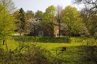 district Luettelforst, Waldhufendorf, Schwalmtal, Lower Rhine, North Rhine-Westphalia, Germany