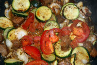 Courgettes Pan
