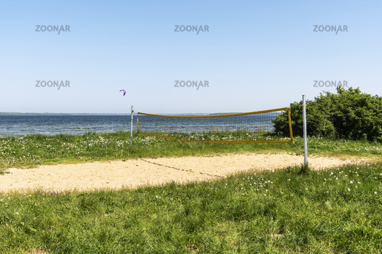 volleyball court, Pepelow, Am Salzhaff, Mecklenburg-Western Pomerania, Germany, Europe