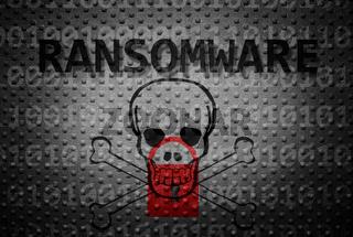 Ransomware crime concept