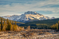 Fisher Peak, a mountain in Kananaskis in the Canadian Rocky Mountains, Alberta