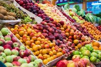 Assortment of fruits at market