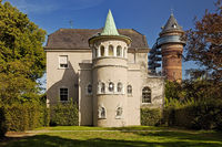 Styrum Castle and Aquarius water museum , Muelheim/Ruhr, Ruhr area, Germany, Europe