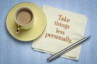 take things less personally