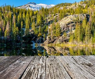 Bear Lake, Rocky Mountains, Colorado, USA.
