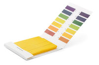 Litmus PH test strips and color samples
