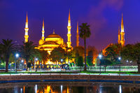 Blue Mosque in the Sultan Ahmet Square in Istanbul, Turkey