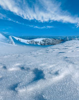 Winter mountain snowy landscape
