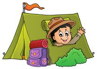 Scout in tent theme image 1
