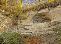 Cave in the glacier mill near Überlingen at the Lake Constance
