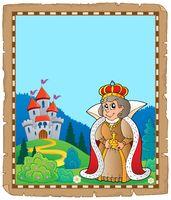 Parchment with queen near castle 3