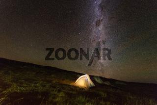 Camping in the mountains. Mount Kosciuszko Australia