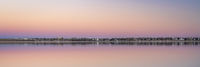 dusk over lake in Colorado