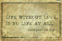 life no love DaVinci