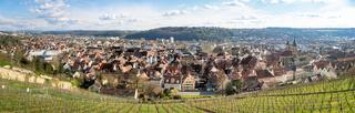 panoramic view to Esslingen Stuttgart Germany