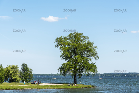 Marstall peninsular, Schweriner lake, Schwerin, Mecklenburg-Western Pomerania, Germany, Europe
