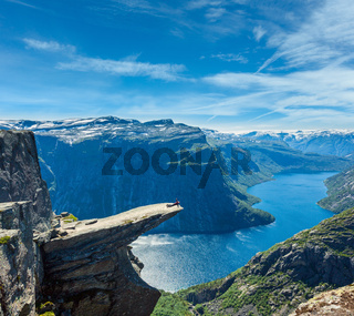 Trolltunga summer view, Norway.