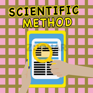 Writing note showing Scientific Method. Business photo showcasing Principles Procedures for the logical hunt of knowledge