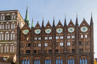 City hall with St. Nicholas Church, Stralsund, Germany