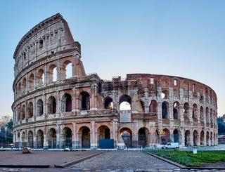 Colosseum at sunrise in Rome
