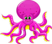 Joyful pink octopus.eps