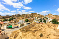 Cave house neighbourhood in Guadix