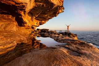 Female enjoying the coastal views Sydney