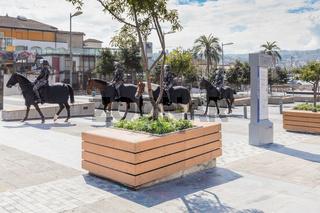police on horseback in Quito Ecuador