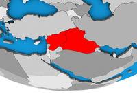 Islamic State on 3D globe