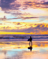 surfer surfboard sunset Bali beach