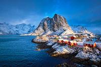 Hamnoy fishing village on Lofoten Islands, Norway