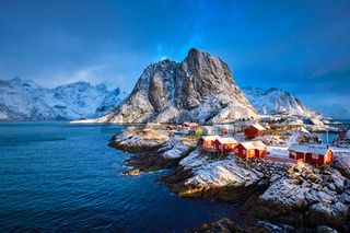 Hamnoy fishing village on Lofoten Islands, Norway