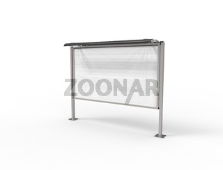 3d rendering of a empty billboard template in white studio background