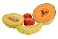 Assorted fruits - melons and apples