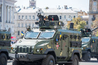 Military parade in Kiev, Ukraine