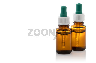 Medicine glass bottles with droppers