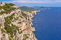 Cliffs of Telascica nature park on Dugi Otok island