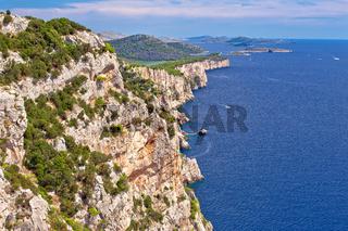 Cliffs of Telascica nature park on Dugi Otok island