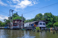 Traditional houses on Khlong, Bangkok, Thailand