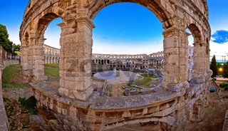 Arena Pula historic Roman amphitheater view
